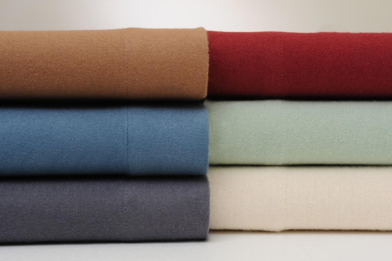bibb home extra soft deep pocket solid flannel sheet set 6. Black Bedroom Furniture Sets. Home Design Ideas