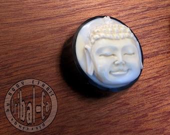 piercing plug bouddha thai buffalo bone and horn Tribal-Ear Body Ethnic plugs