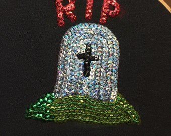 Sequin Tombstone Patch