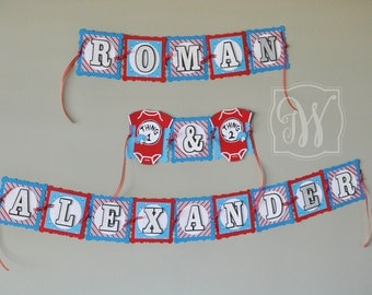 Dr Seuss inspired banner!! Banner, Thing 1 and Thing 2,Baby Shower banner, Happy birthday sign, Birthday banner, Party banner