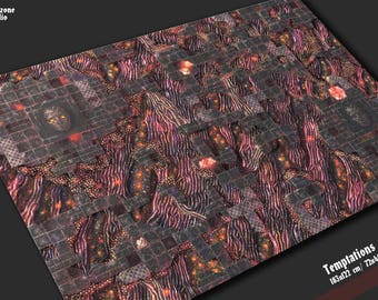 Battle mat: Temptations - Chaos terrain for sci-fi, fantasy miniature wargames -  Warhammer, Hordes, Warmachine, Age Sigmar, Lord Rings