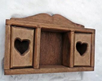 Country Shelf, Wooden Wall Shelf, Wood Display Shelf, Knick Knack Shelf, Kitchen Decor, Tchocke Shelf, Figurine Shelf, Primitive Decor