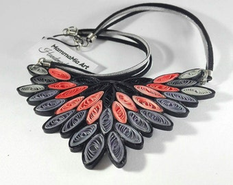 Tribal chic necklace Central Park, Native American leather strap necklace, necklace handmade, tribal jewelry, large pendant necklace
