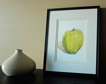 Apple / original watercolour illustration