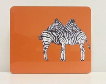 Hand Drawn Zebra Placemat - Zebra Gift