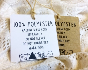 Material tag, Washing tags, Instruction tag, Handmade items tags, clothes tags, custom tags, handmade tags, handmade with love, washing tips