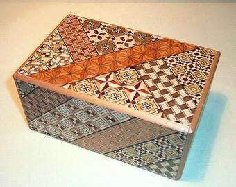 27 Step Japanese Puzzle Box Secret Yosegi Hakone 5 Sun Trick Opening Crafted L Himitsubako Famous Souvenirs