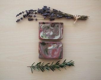 Rosemary Lavender - All-Natural Soap, Rosemary Soap, Lavender Soap, Handmade Soap, Vegan Soap, Organic Soap, Herbal Soap, Floral Soap
