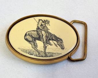 Vintage Barlow Belt Buckle/ Solid  Brass Belt Buckle/