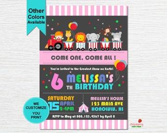 Circus Birthday Invitation, Carnival Invitation, Circus Theme Party, Carnival Birthday, Carnival Themed Party, Party Printables