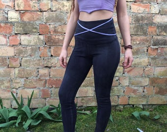 organic leggings in natural black size m
