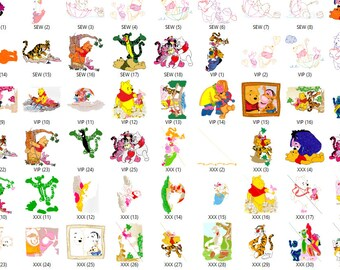 Disney Winnie The Pooh and Friends Embroidery Designs