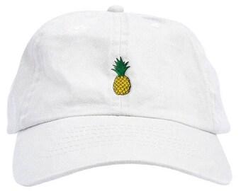 Pineapple Dad Hat Baseball Cap Low Profile