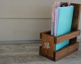 Folder Organizer/File Organizer/Wood Folder Organizer/Wood Desk Organizer