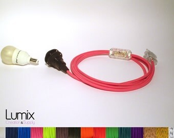 Bedside lamp or desk to customize - bakelite bushing with screw E14 specific shade, textile cable and switch-Réf KITBe14