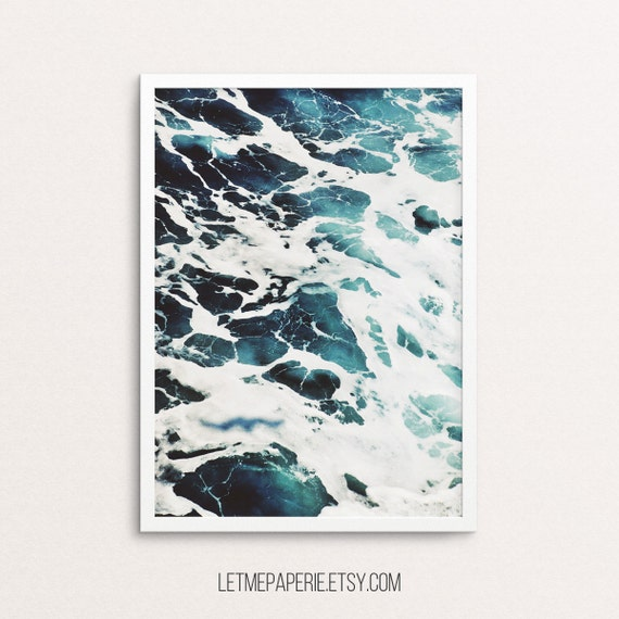 Ocean print, sea photography, ocean photo, sea prints, ocean wall art, sea art print, water, aqua, beach, waves, tropical poster, printable