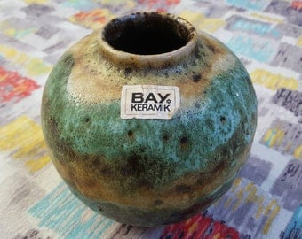 Bay Keramik: Vintage West German Ball Vase in Green no.64-12 from the 1960s-70s. UK Seller.