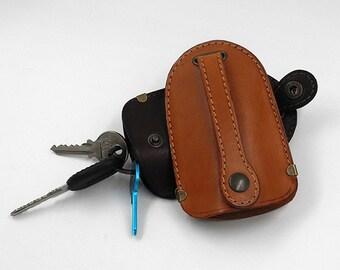 Leather Key Holder Case, Key Case Leather, Leather Key Holder, Leather Keychain For Men, Key Holder Case, Leather Key Fob, Key Fob Case