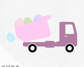 Easter Truck Svg, Easter Chick Svg, Svg Easter, Chicken Svg, Dump Truck Svg, spring svg, easter eggs svg, files for silhouette and cricut