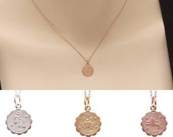Zodiac Necklace, Star Sign Necklace, Zodiac Sign Jewelry, Personalized Necklace, Birthday Gift