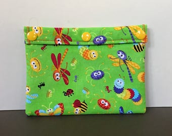 Reusable Snack Bag - Reusable Sandwich Bag - Ecofriendly Bag