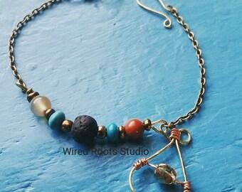 Fancy jasper diffuser bracelet, lava rock and gemstone diffuser  bracelet, essential oil diffuser bracelet, diffuser charm bracelet, gifts