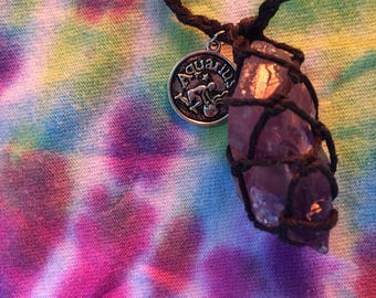 Amethyst Aquarius Necklace