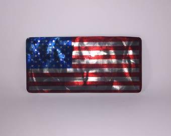 American Flag Metal Plaque