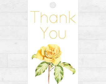 Printable Thank You Gift Tags - Instant Download  - Thank You Flowers - Watercolor Floral Illustration - 10 Gift Tags - DIY - Gift Tag[011]