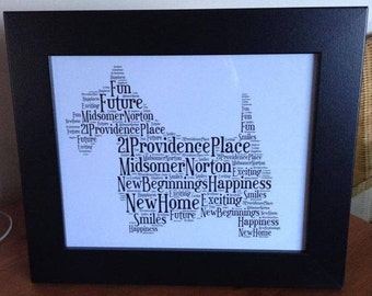 A4 Personalised Word Art Scottie/Westie Dog Print (UK ONLY)/Download
