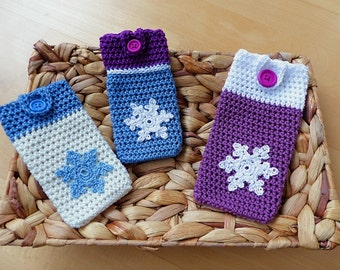 "ebook: Smartphone Cozy ""Snowflake"" Crochet Pattern"