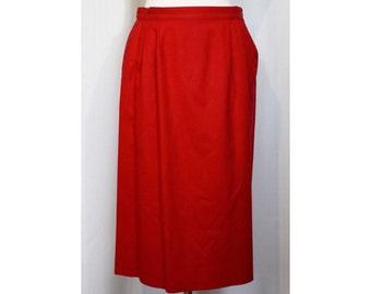 Vintage 50s/60s Red Pendleton Wool Skirt