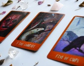 Emotional, Physical, and Mental Health Check In -- Three Card Tarot Reading + One Follow-Up Card -- Photo of Spread Included