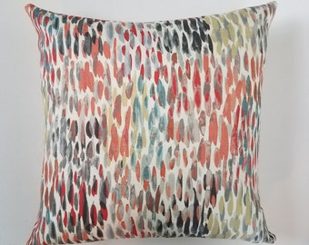 Multi Color Rain Drop Pillow Cover, Decorative Pillow, Sofa Pillow, Bedroom Pillow, Spring Pillow