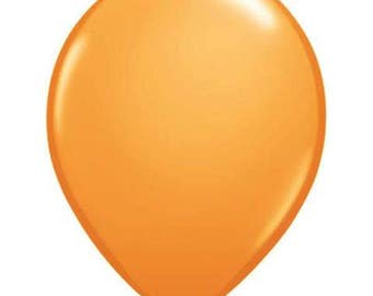 ORANGE  BALLOONS 5 x 28cm - Set of 5 Standard Size Orange Balloons  (11 inches / 28cm)