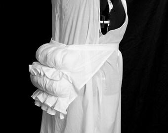 Victorian Underwear Set chemise bustle and underskirt, handmade, Size S-XXL, custom made