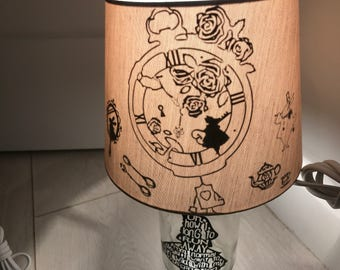 Inspired alice in wonderland lamp