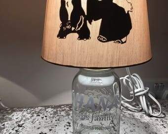 Inspired ohana lilo and stitch lamp