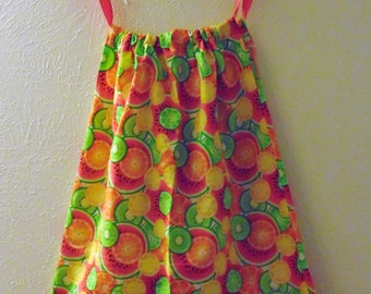 Summer Fruit Pillowcase Dress 12-18M