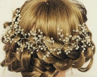 Crystal bridal headpiece crystal vine crystal wreath crystal hairpiece crystal hair vine crystal vine bridal vine bridal headpiece headband
