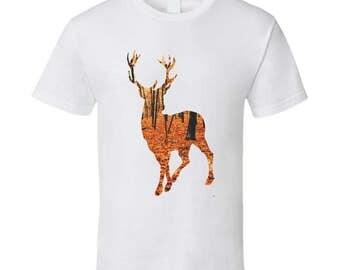 Deer Silhouette Autumn T Shirt