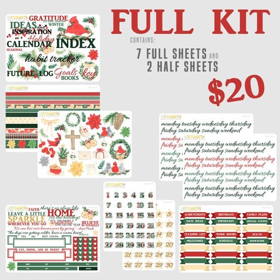 holiday birds bullet journal kit from nelizabethmultimedia on etsy studio. Black Bedroom Furniture Sets. Home Design Ideas