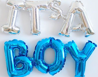 Baby Shower Blue Balloon Decoration - FREE POSTAGE - It's a boy!