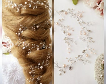 Free Shipping ALL Summer!!Extra Long hair vine,Crystals Bridal Wedding,Hairpiece Bridal Hair Vine,Wedding hair-vine,pearl hair vine 27