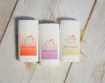 THREE Pack All Natural Deodorant - Organic Deodorant - Homemade Deodorant - Deodorant - Natural Deodorant
