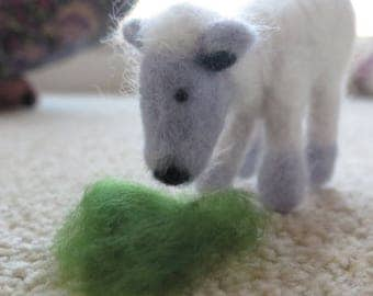 Little felted sheep