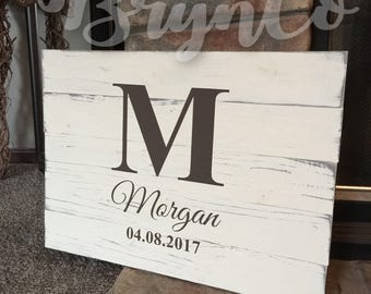 Rustic / Distressed / Wedding / Guestbook Alternative / Personalized / Wedding Date