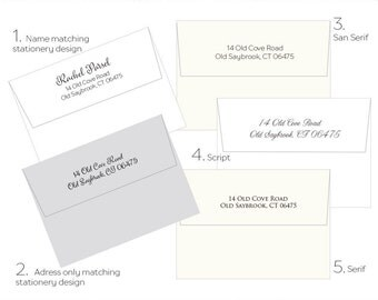 Personalized Stationary, Return Address Printing, Custom Envelopes, Personalized Envelopes - ADD ON  To Your Stationery Order, CS12