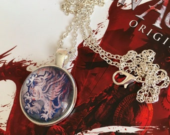 Grey Warden Dragon Age Pendant Necklace or Keyring : )