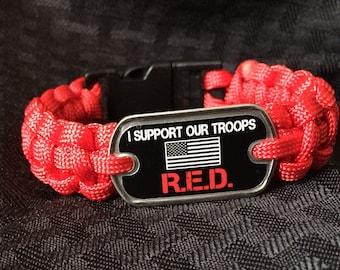 R.E.D. Remember Everyone Deployed Bracelet